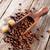 koffiebonen · suiker · top · textuur · voedsel - stockfoto © karandaev