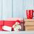 Кубок · кофе · Рождества · подарки · древесины - Сток-фото © karandaev