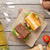 two sandwiches with salad ham cheese and tomatoes with white w stock photo © karandaev