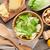 新鮮な · 健康 · シーザーサラダ · 料理 · 木製のテーブル · 食品 - ストックフォト © karandaev
