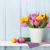 bouquet · jaune · pourpre · tulipe · fleurs - photo stock © karandaev