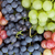 monte · colorido · uvas · mesa · de · madeira · vinho · fundo - foto stock © karandaev