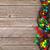 christmas colorful lights over wooden background stock photo © karandaev