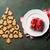 christmas dinner plate silverware gift cookies stock photo © karandaev