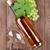 köteg · szőlő · fehérbor · fehérboros · üveg · dugóhúzó · fa · asztal - stock fotó © karandaev