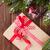 karácsony · ajándék · doboz · hó · fenyőfa · fából · készült · fa - stock fotó © karandaev