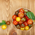 colorful cherry tomatoes on wooden table stock photo © karandaev
