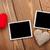 photo frames and handmaded valentines day toy hearts stock photo © karandaev