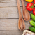fresh ripe vegetables and utensils on wooden table stock photo © karandaev