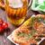 grilled shrimps pretzel and beer mug stock photo © karandaev