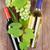 Rood · witte · wijn · flessen · bos · druiven · houten · tafel - stockfoto © karandaev