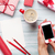 Кубок · кофе · Рождества · подарки · красный - Сток-фото © karandaev