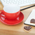 Coffee cup, cookies and office supplies stock photo © karandaev