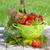 fresh ripe tomatoes olive oil bottle pepper shaker and basil stock photo © karandaev
