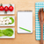 fresh healthy salad tomatoes mozzarella and notepad for copy s stock photo © karandaev