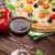 Italiaans · pizza · rode · wijn · kaas · tomaten · olijven - stockfoto © karandaev