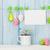 kleurrijk · paaseieren · penseel · houten · tafel · Pasen · gelukkig - stockfoto © karandaev