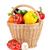 nyers · zöldségek · fonott · kosár · izolált · fehér - stock fotó © karandaev