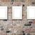 tres · dorado · marcos · papel · pintado · antiguo · papel · pared - foto stock © karandaev