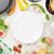 итальянской · кухни · приготовления · Ингредиенты · пусто · пластина · пасты - Сток-фото © karandaev