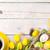 színes · tulipánok · táska · papírzacskó · fából · készült · piros - stock fotó © karandaev