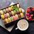 colorful macaroons berries and coffee stock photo © karandaev