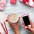 женщины · смартфон · упаковка · Рождества · подарки - Сток-фото © karandaev