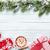 christmas background with fir tree gifts hot chocolate stock photo © karandaev