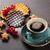vers · eigengemaakt · Brussel · wafel · bessen · ontbijt - stockfoto © karandaev