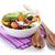 salata · tabağı · mutfak · havlu · yalıtılmış · beyaz - stok fotoğraf © karandaev