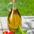 オリーブオイル · ボトル · 唐辛子 · シェーカー · ハーブ · 木製のテーブル - ストックフォト © karandaev