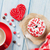 donut heart shaped candy and coffee stock photo © karandaev