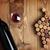 vin · sombre · bois · vin · rouge · verre · de · vin · feuille - photo stock © karandaev