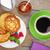framboesa · iogurte · bolo · tabela · fruto - foto stock © karandaev