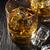 vidro · uísque · gelo · preto · pedra · tabela - foto stock © karandaev