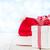 chapeau · cadeau · rouge · arc · blanche - photo stock © karandaev
