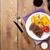 filete · a · la · parrilla · papa · maíz · ensalada · vino · tinto - foto stock © karandaev