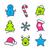 vector · christmas · peperkoek · iconen · geïsoleerd · witte - stockfoto © karandaev