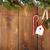 snow fir tree and christmas decor on rope stock photo © karandaev