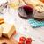 branco · vinho · tinto · queijo · pão · mesa · de · madeira · comida - foto stock © karandaev