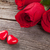 red rose and candy hearts over wood stock photo © karandaev