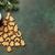 karácsony · sütik · forró · csokoládé · fából · készült · tálca · kényelmes - stock fotó © karandaev