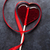 valentines day candy heart and red ribbon stock photo © karandaev