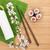 comida · japonesa · fresco · sakura · ramo · bambu · tabela - foto stock © karandaev