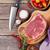nyers · marhahús · vágódeszka · friss · fából · készült · fokhagyma - stock fotó © karandaev