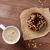 café · mesa · de · madeira · topo · ver · espaço - foto stock © karandaev