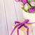 Purple · Tulip · букет · деревянный · стол · копия · пространства · цветы - Сток-фото © karandaev