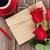 amor · carta · bloc · de · notas · rosas · rojas · taza · de · café · mesa · de · madera - foto stock © karandaev