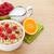 kahvaltı · müsli · karpuzu · portakal · suyu · yalıtılmış · beyaz - stok fotoğraf © karandaev