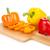 fatia · amarelo · isolado · branco · comida - foto stock © karandaev